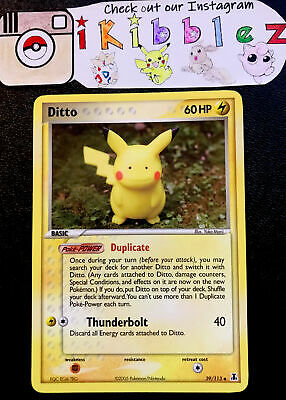 Ditto 39/113 NM Pikachu Art Delta Species Pokemon Card. Free Tracked Shipping!