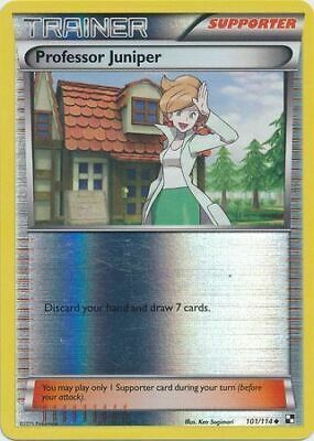 Professor Juniper 101/114 Black & White Reverse Holo -LP- Pokemon DNA GAMES