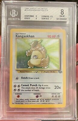 Pokemon 1999 Jungle Unlimited Kangaskhan #5 Holo Beckett 8 NM-MT Freshly Graded