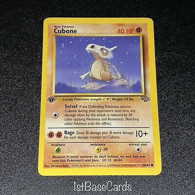 1st Edition Cubone 50/64 Common 1999 WOTC Jungle Pokemon Cards NEAR MINT*