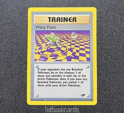 Warp Point 126/132 Common 2000 Gym Challenge Unlimited Pokemon Cards NEAR MINT*