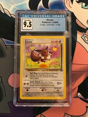 1999 Pokemon Jungle Eevee 51/64 CGC 9.5 GEM MINT
