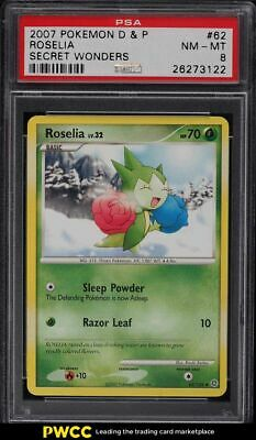2007 Pokemon Diamond & Pearl Secret Wonders Roselia #62 PSA 8 NM-MT