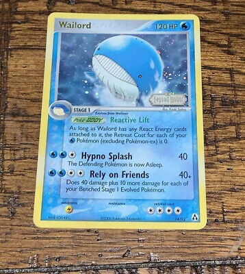 Wailord 14/92 Holo Foil Rare EX Legend Maker Stamp Stamped Pokemon Card