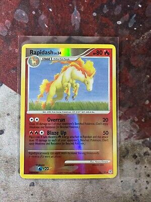 Pokemon RAPIDASH 59/130 Diamond & Pearl - Rev Holo -  NM  f