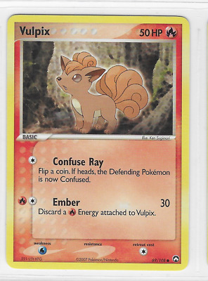 Pokemon Vulpix 69/108 Power Keepers Common Near Mint Condition