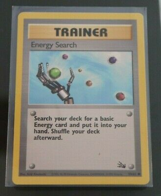 Energy Search 59/62 Fossil Trainer Pokemon card LP
