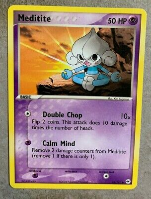 Meditite 65/101 EX Hidden Legends - Common Pokemon Card - NM