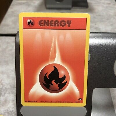 Fire Energy 128/132 Gym Challenge Pokemon Card 1999 Played condition