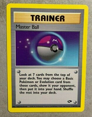 Master Ball 116/132 Gym Challenge - Uncommon Pokemon Card - EXCELLENT