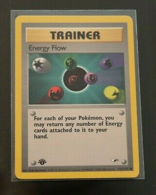 Energy Flow 122/132 1st Edition Gym Heroes Trainer Pokemon Card LP