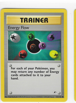 Pokemon Energy Flow 122/132 Gym Heroes Common Near Mint Condition