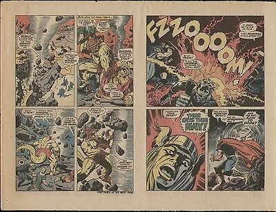 Jack Kirby 1968 Mighty Thor 156 Original Production Art Proof Page Mangog Action