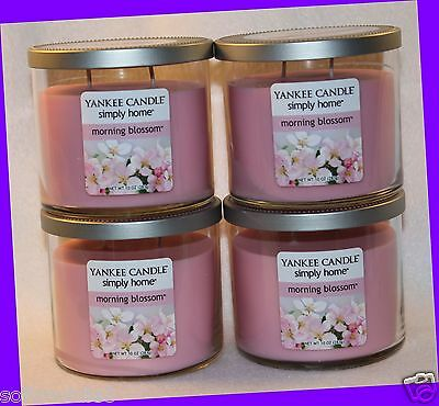 4 Jars Yankee Candle Simply Home Morning Blossom Jar Candle 12 Oz / 340.1g