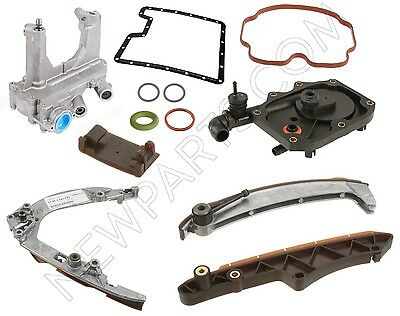For Bmw E53 X5 4.4i 4.6i 00-03 Premium Quality Oil Pump+timing Chain Rail Kit
