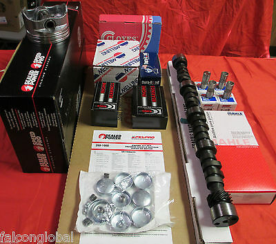 Ford 351w Engine Kit Pistons+rings+oil Pump+timing 4bbl W/torque Cam Lifters