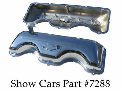 64,65 Chrome Valve Covers 409 Chevy Chevrolet Impala Ss Bel Air With Drippers