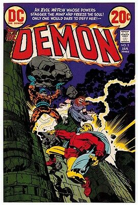 Jack Kirby 1973 The Demon #5 Original Cover Proof Dc Comics Production Art Adler
