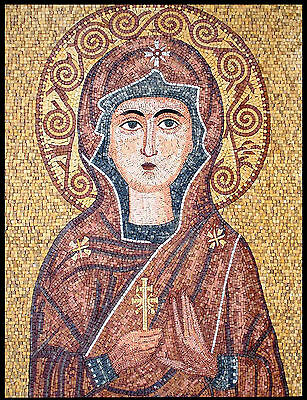 Icon Saint Religious Figure Virgin Mary Church Home Decor Marble Mosaic Fg538
