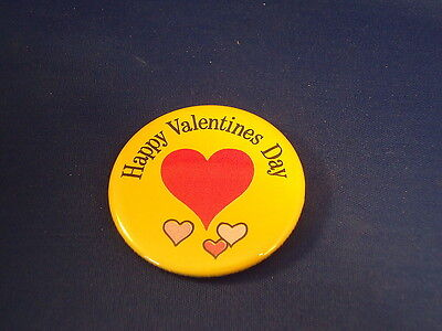 """""""happy Valentines Day""""  Lot Of 100 Buttons Pins Pinbacks 2 1/4"""" Badge Love Heart"""