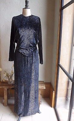 Guy Laroche - Couture!!!- Vintage Dress Size Uk 8- 10, Us 0-2, Eu 36-38, Black