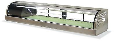 """Hoshizaki Hnc-180ba 71"""" Refrigerated Sushi Glass Case Stainless Counter Top"""