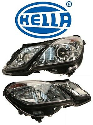 For Mercedes W207 Set Of Driver & Passenger Headlight Assembly Xenon Oem Hella