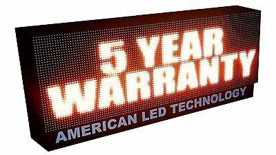 """10mm Led Sign Programmable Full Color Message Board 15"""" X 51"""" 4 Trillion Colors"""