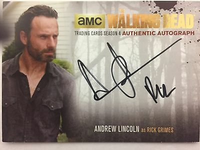 Walking Dead Season 4 Part 2 - Gold Andrew Lincoln - Rick Grimes Autograph Al4