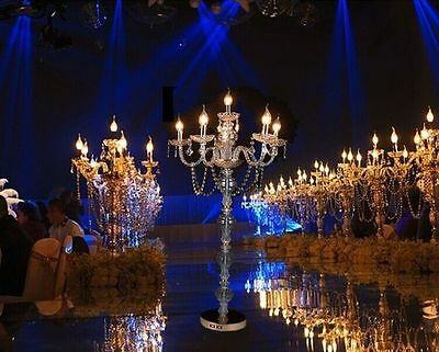 Tall Wedding Gold Acrylic Table Centerpiece Candlestick Wedding Road Lead Stand