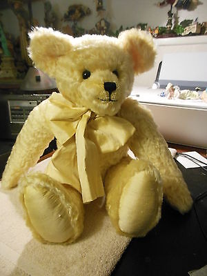 "Cantebury Bear Signed 17"" ""florian"" Gold Mohair Limited Edition 17""  Bear   Mint"