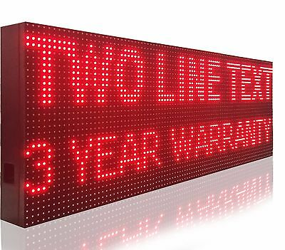 """Digital Business Open Led Sign 76""""x25"""" Outdoor Programmable Red Color Display"""