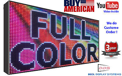 """16m Color 14"""" X 39"""" 10mm Wifi Marquee Outdoor Programmable Digital Open Led Sign"""