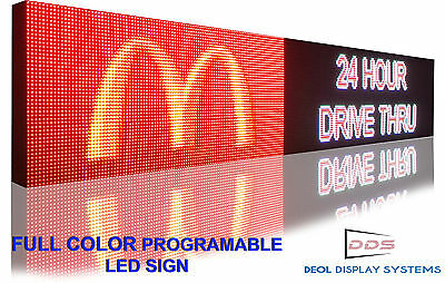 """13"""" X 100"""" Outdoor 16m Color Programmable Led Sign Open Display 10mm Ultra Hd"""