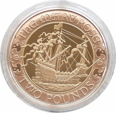 2011 Great Britain Royal Mint Mary Rose £2 Two Pound Gold Proof Coin Box Coa
