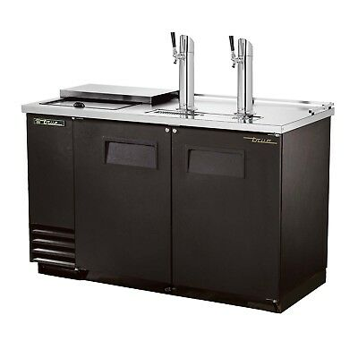 """True Tdd-2ct  58"""" Club Top Beer Cooler With 2 Taps And A 2 Keg Capacity"""