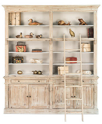 Large Whitewash Reclaimed Fir Display Cabinet/library/bookcase,83