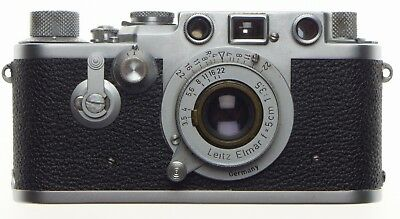 Leica Just Serviced Iiif Self Timer Red Scale 35mm Film Camera Elmar 1:3.5/50mm