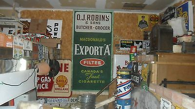 Rare 1950s Huge Export A Cigarette Sign Not Porcelain Crated And Ready To Ship