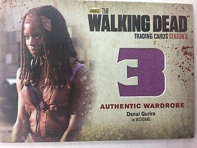 Walking Dead Season 3 Cryptozoic : Danai Gurria Michonne M39 Wardrobe