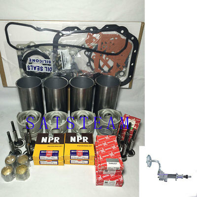 Isuzu 4jg2 With Inner Cooling Gallery Engine Rebuild Kit & Oil  Pump