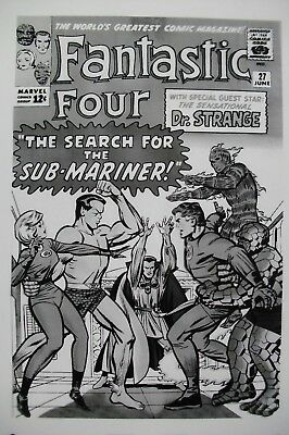 Original Production Art Fantastic Four #27 Cover, Jack Kirby Art, Sub-mariner