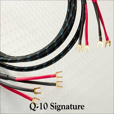 Dh Labs Q10 Signed Speaker Cable [stereo Pair / Spade Connector] 12 Ft By Silver