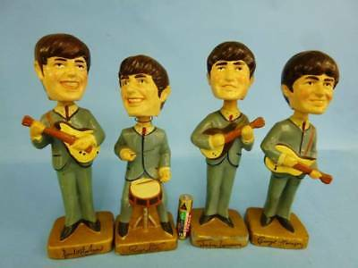 vintage beatles shaking head doll 4 body set made in pottery retro from japan