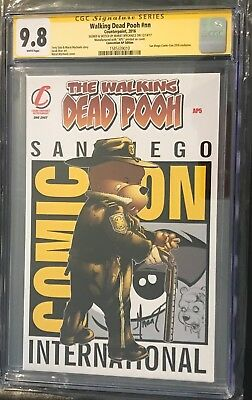 Walking Dead Pooh #nn Convention Ap5 Variant Cgc9.8 Ss Marat Mychaels W/sketch!