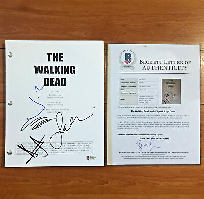 The Walking Dead Signed Pilot Script By 4 Cast Andrew Lincoln - Beckett Bas Coa