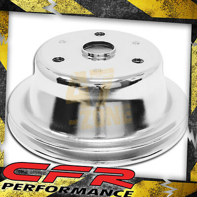 1969-85 Chevy Small Block Chrome Steel Crankshaft Pulley - Long (1 Groove)