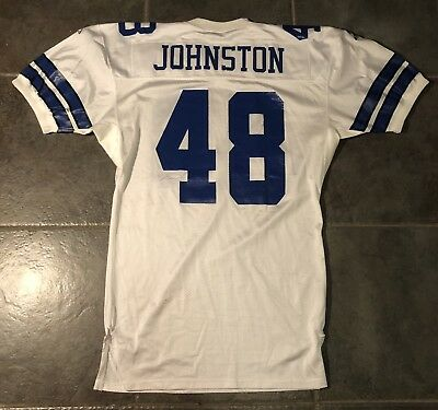 Dallas Cowboys Daryl Johnston Game Issued 1995 Vintage Apex Jersey Sz 48 Long