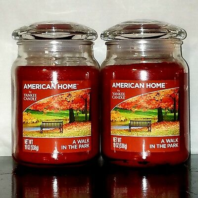 2 American Home Yankee Candle A Walk In The Park Leaves Fragrance Fall Scent Lot