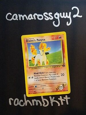 ~ Blaine's Ponyta 64/132 Basic Gym Challenge Classic Pokemon Card 1999 FREE SHIP